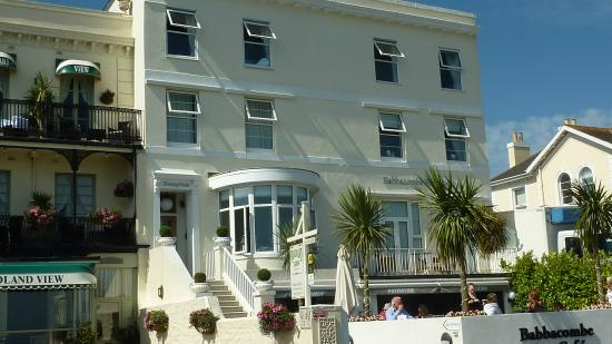 Oddicombe beach picture of babbacombe bay hotel torquay for Best boutique hotels devon