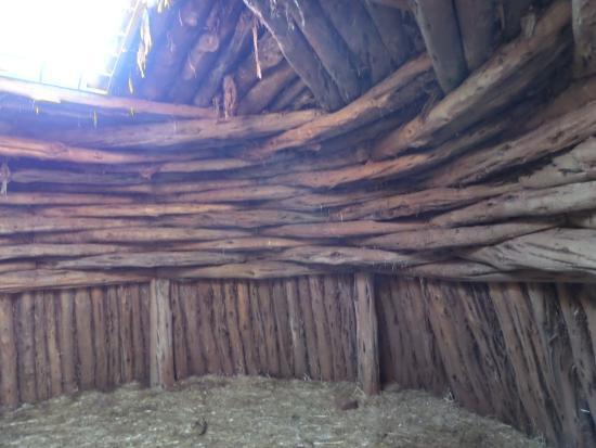 Cortez Cultural Center: the interior of the model pueblo on site