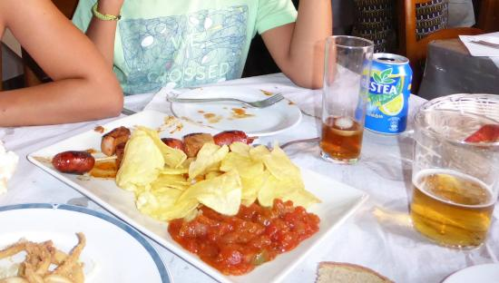 Foto de meson el picoteo tarifa brocheta de chorizo tripadvisor - Restaurante el puerto tarifa ...
