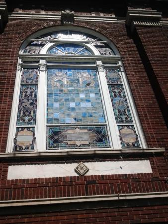 Stained Glass Outside View Picture Of Free Synagogue Of Flushing Tripadvisor