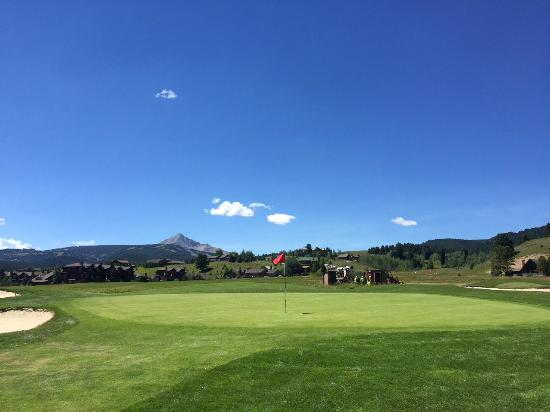 Big Sky Golf Course: View from Golf Course towards Lone Peak