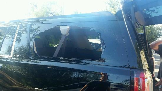 Residence Inn Fresno: Broken car, stolen items