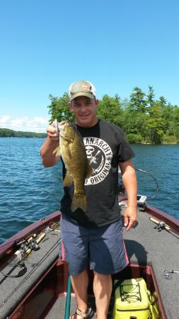 East Winthrop, ME: Just one of a ton of smallmouth bass caught
