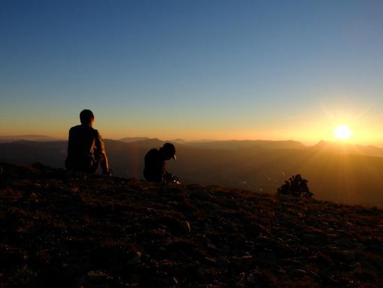 Parc Naturel Regional du Vercors: Coucher de Soleil exceptionnel