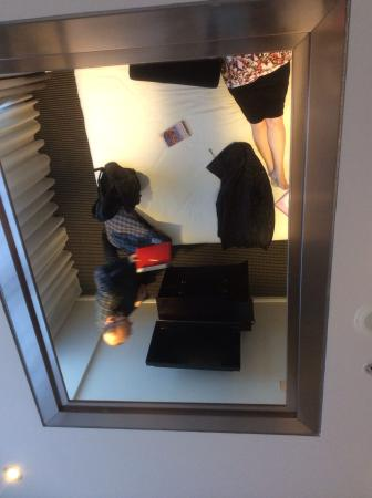 Mirror on ceiling of main bedroom!!!!! - Picture of Meriton Suites ...