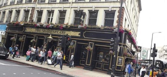 The Shakespeare: Shakespeare pub London-Victoria