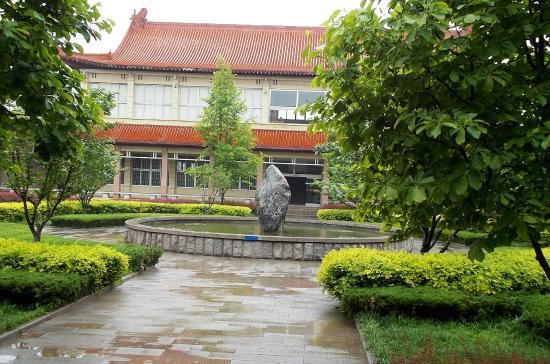 Qingzhou, China: Museum courtyard
