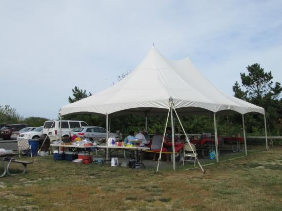 Seven Presidents Oceanfront Park North end tent rental for 50 people complete with picnic tables & North end tent rental for 50 people complete with picnic tables ...