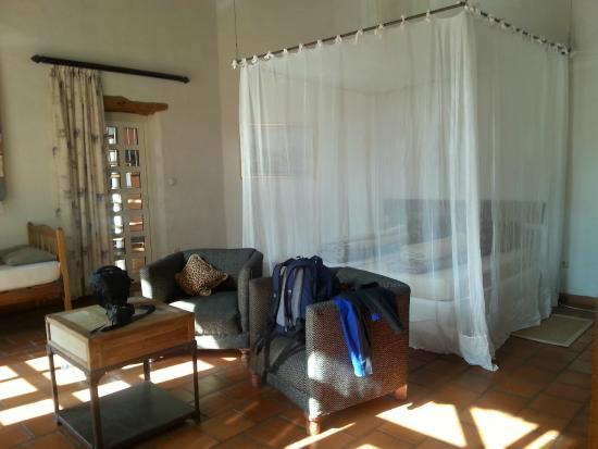 Okambara Elephant Lodge: Geräumige Zimmer auch für 4 Personen