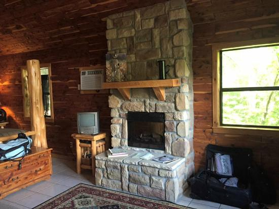 Tree House Cabins at River of Life Farm : living room area