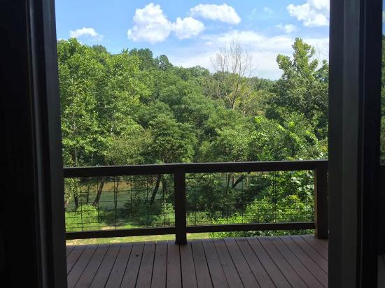 Tree House Cabins at River of Life Farm : view from porch