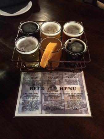 Big Bear Lake Brewing Company : Flight of beers
