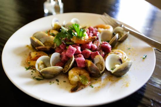 Bouquet Restaurant at Ponte Vineyard Inn: Seafood and Beet Gnocchi