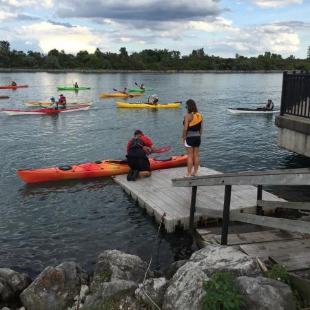 Wyandotte, MI: Great Wednesday evening group paddles. Nice blend of people from all over the metro area. Paddli