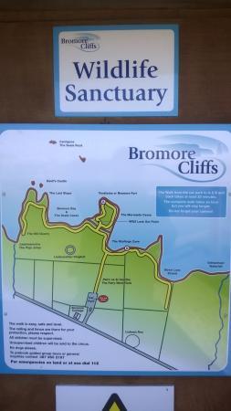 Bromore Cliffs: Walk layout