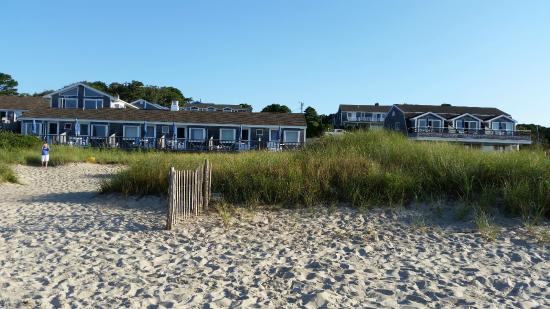 Chatham Tides Waterfront Lodging: Looking at Chatham Tides from their private beach
