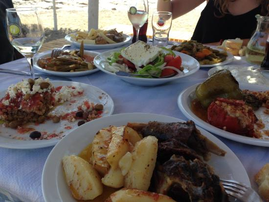 Delicious home cooked meals - Cretan style - Picture of Kalliotzina ...