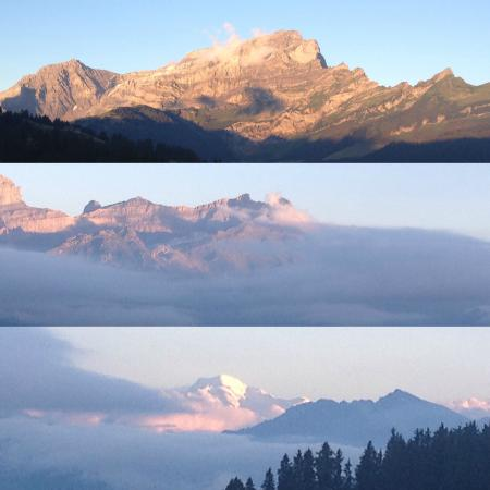 Villars-sur-Ollon, Zwitserland: la vue depuis la terrasse