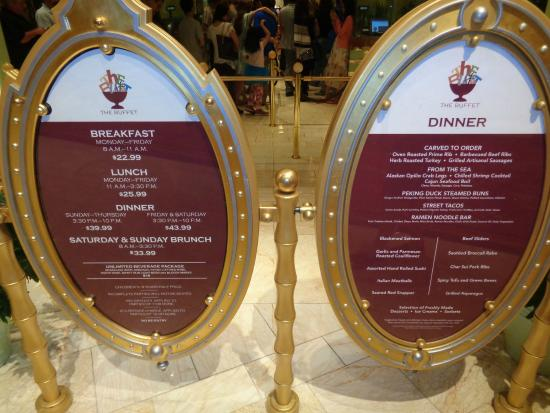 Brilliant Prices Listed When You Enter Picture Of The Buffet At Wynn Download Free Architecture Designs Scobabritishbridgeorg