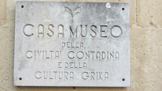 Casa Museo della Civiltà Contadina e della Cultura Grika: Casa Museo della civiltà Contadina Calimera
