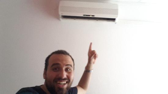 Art hostel : Air conditioner