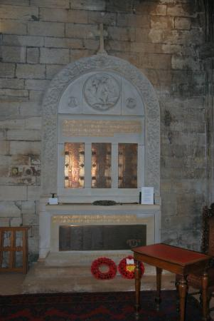 St. Michael's Parish Church: war Memorial to those men who gave their lives in both World Wars