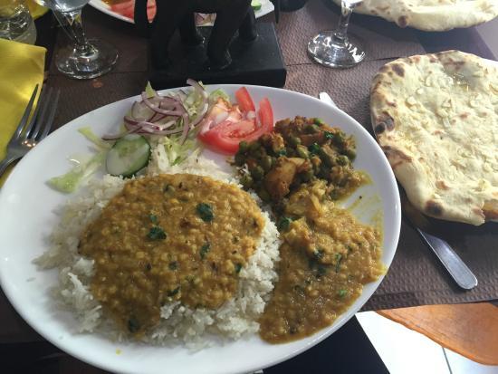Les Délices De L'Inde : Assiette végétarienne