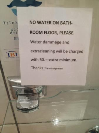 Hotel Loetschberg: Nice sense of hospitality - you need to use tiny facilities without spilling a drop on the floor