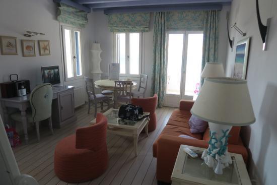 il soggiorno della camera - Picture of Arte & Mare Elia Mykonos ...