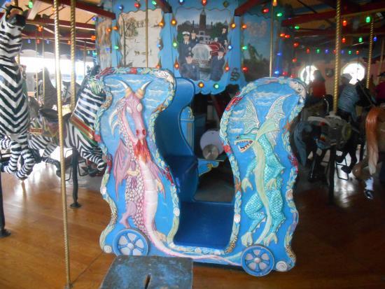 Children's Zoo at Celebration Square: Dragon chariot at Celebration Square Carousel