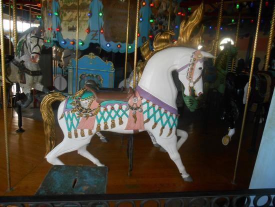 Children's Zoo at Celebration Square: Lead horse at Celebration Square Carousel