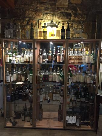 Whiskey cabinet - great selection! - Picture of Castle Whisky Bar ...