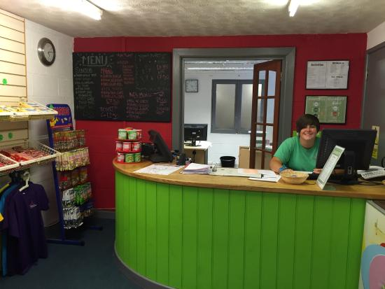 YHA Okehampton: Reception Desk