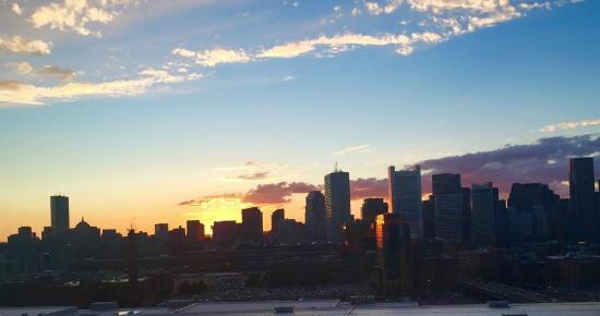 Boston's Westin Waterfront Sunset
