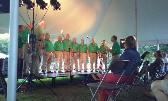 Sanbornville, NH: Seacoast Men's Barbarshop Concert Under the Tent July 2015