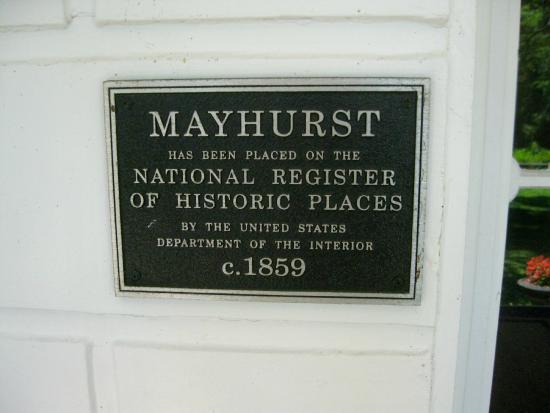 Mayhurst Inn: Historic registry