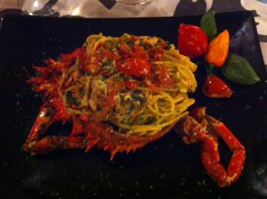 Spaghetti alla granceola servito nel carapace bild fr n bagno fiorella tirrenia tripadvisor - Bagno fiorella tirrenia ...