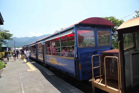 Minamiaso Railway: 貨車改造の客車が3両+前後にディーゼル機関車