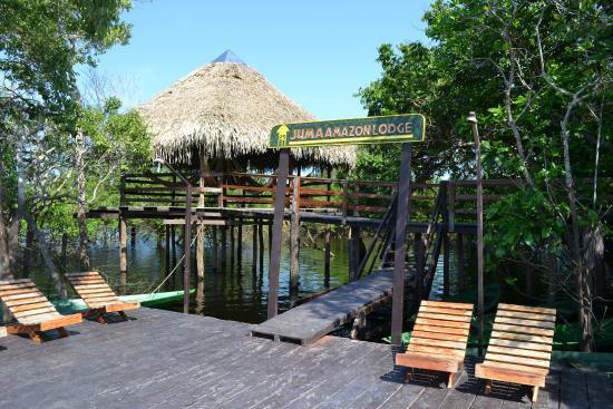 Juma Amazon Lodge: Deck.