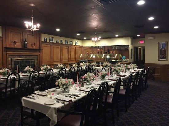 The Crown Sterling Private Room Set Up For Rehearsal Dinner