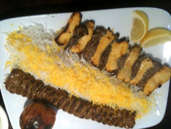 Shiraz Cuisine: шашлык из 2-х видов мяса