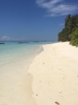 Kuramathi: The beach outside our villa