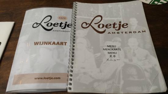 Cafe Loetje Menu