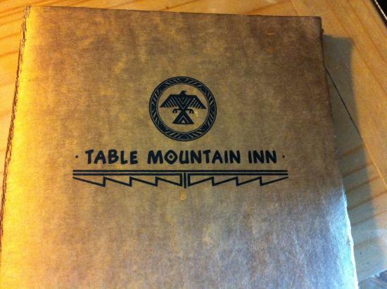 Menu Picture Of Table Mountain Inn Golden Tripadvisor