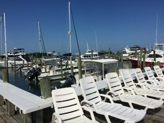 The Anchorage Inn: Pool view of Marina