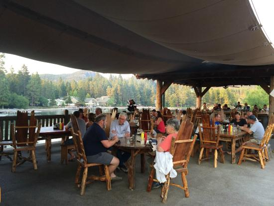 Saddlehorn Bar And Grill : Outdoor Dining Room and Bar