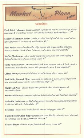 Market Place Steak House & More: Menu page 2