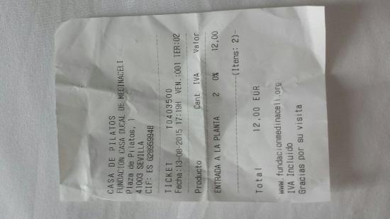 Casa de Pilatos: 2 adult ticket