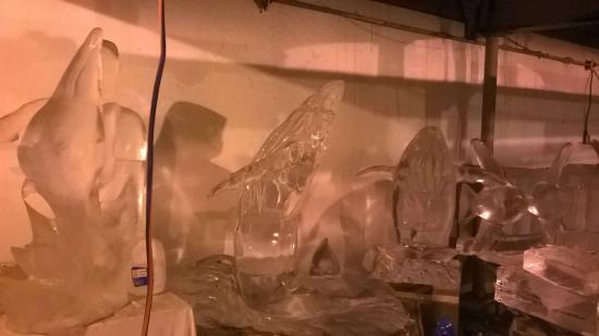 Cape Pond Ice: Ice sculptures