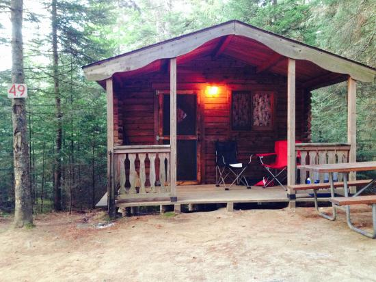 Beech Hill Campground and Cabins: Outside Cabin 49